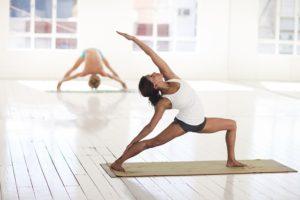 Yoga posture du guerrier numéro 3