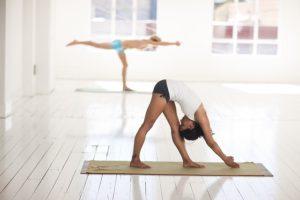Yoga posture étirement
